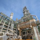 41945471 - process area of petroleum plant with blue sky