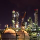 48587874 - night light in petrochemical plant